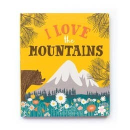 I love the mountains baby book