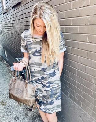 Camo French Terry W/ Pockets Dress