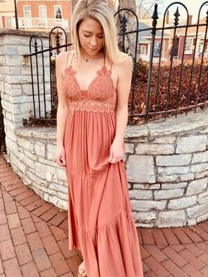 Rust Maxi Dress WL-09