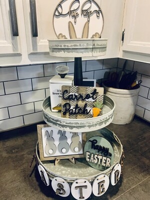 Easter Themed Tiered tray class