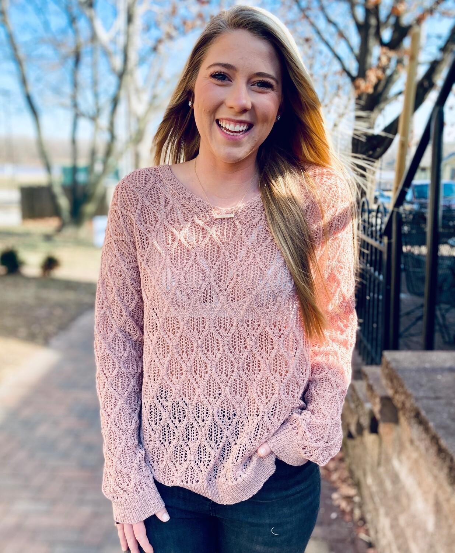 Deep V Rose Sweater DR-06