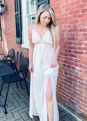 Ruffled Chiffon Maxi Dress