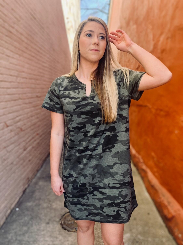 Cassidy V Neck Green Dress