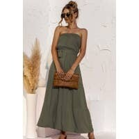 Olive Chic Strapless Maxi