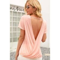 Pink Backless Ss Top