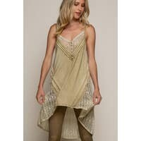 Warm Olive Lace Knit Top