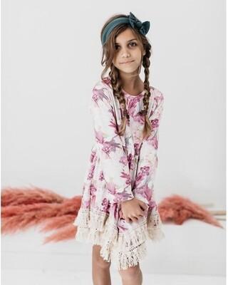 Enchanted Garden Boho Fringe Dress
