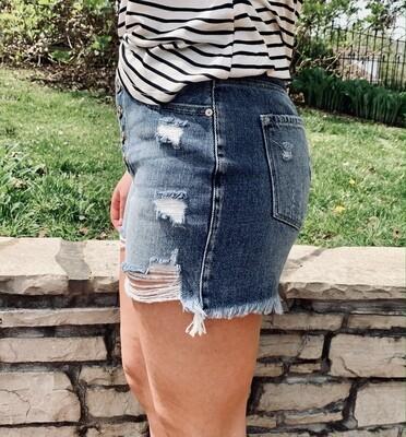 High Rise Mom KanCan Shorts