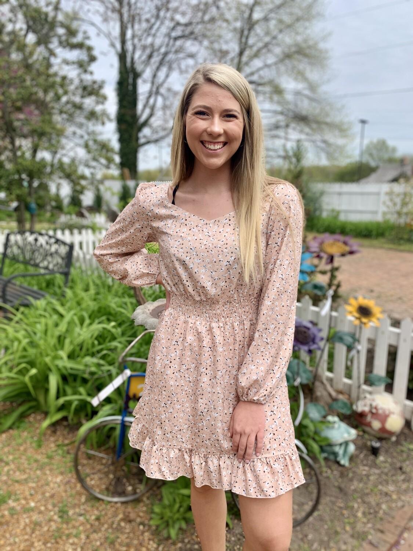 Pink Floral Mini Dress