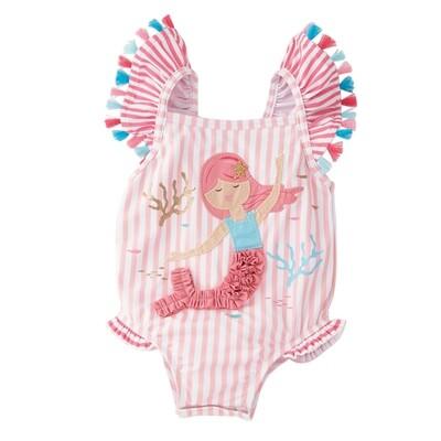 Mermaid Tassel One Piece Swimsuit -