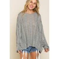 Dusty Blue Sweater