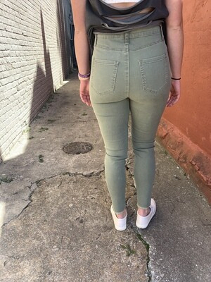 Wells Button Fly Jeans Sage