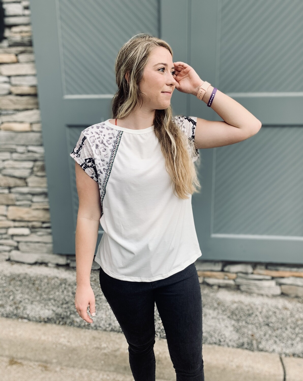 White Cap Sleeve Shirt