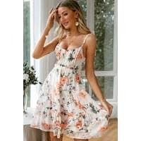 Lovely Floral Spaghetti Strap Sun Dress