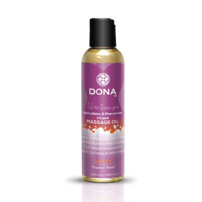 DONA - SCENTED MASSAGE OIL TROPICAL TEASE 125 ML