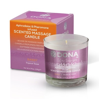 DONA - SCENTED MASSAGE CANDLE TROPICAL TEASE 135 G