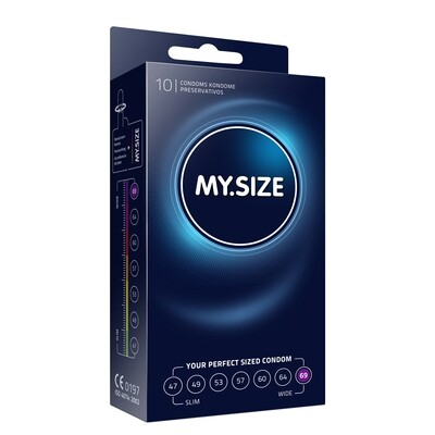 MY SIZE - NATURAL LATEX CONDOM 69 WIDTH 10 PIECES