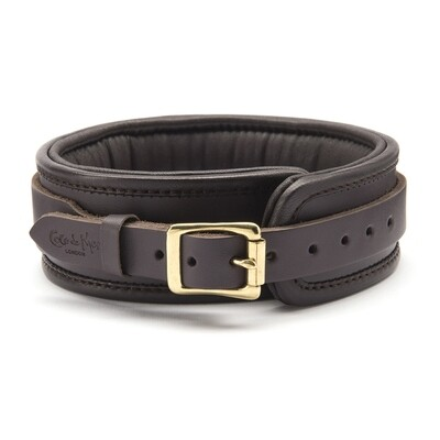 COCO DE MER - LEATHER COLLAR BROWN