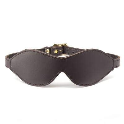 COCO DE MER - LEATHER BLINDFOLD BROWN