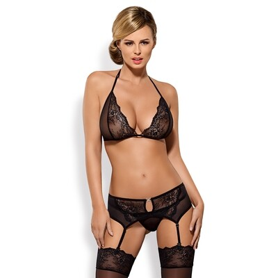 OBSESSIVE - MEROSSA SET 3 PCS BLACK S/M