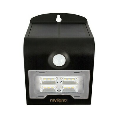 Wall light 02 Svart LED Solar sensor