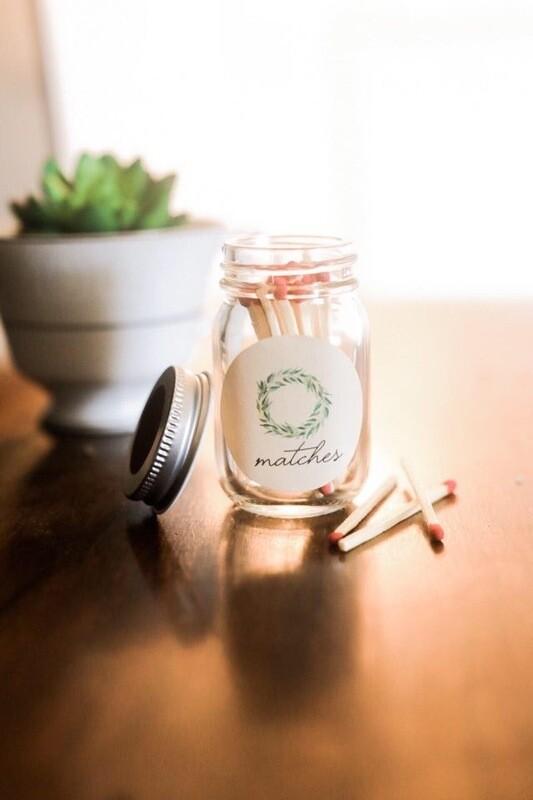 Mini Match Mason Jars