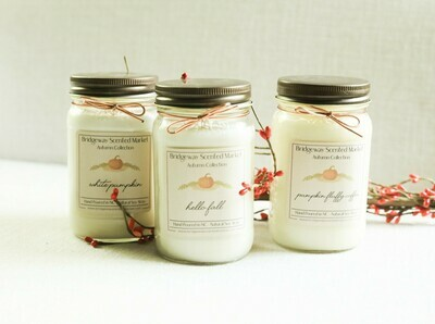 Bundle of 3 Autumn Candles - Shipping Included
