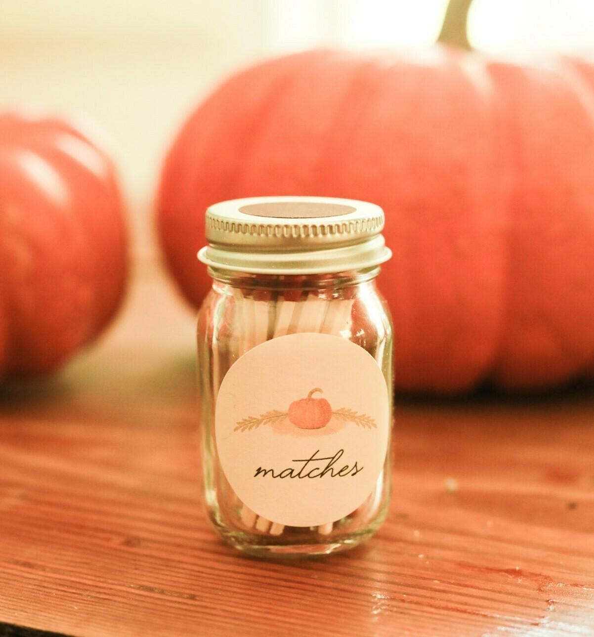 Autumn Mini Match Mason Jars