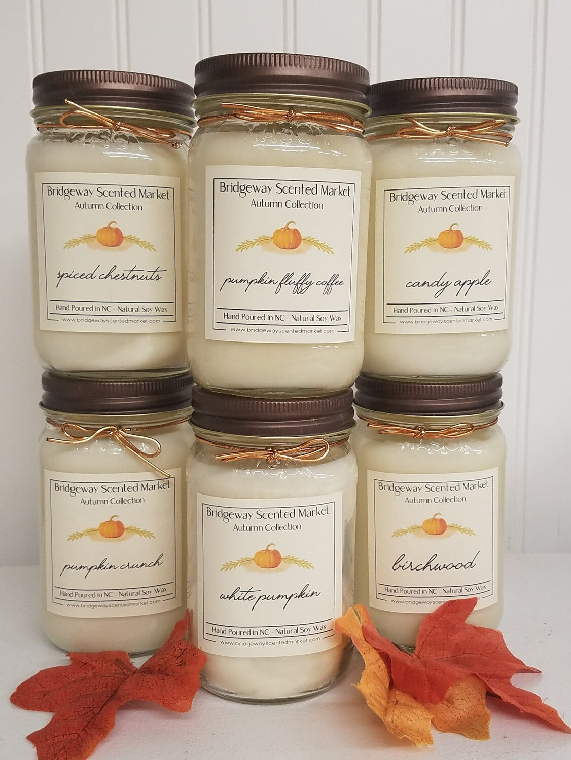 Bundle of 6 Autumn Candles - Shipping Included