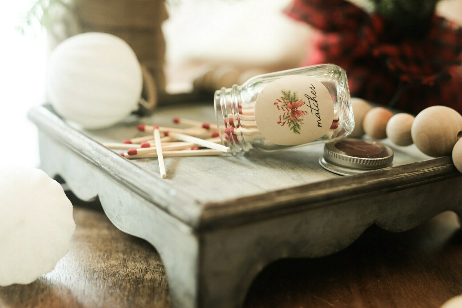 Christmas Mini Match Mason Jars
