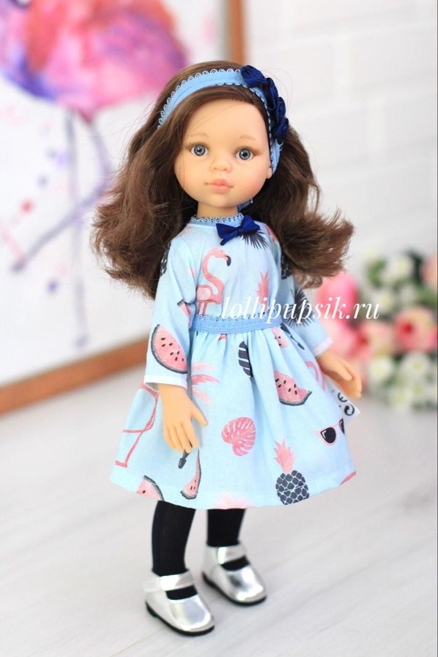 Кукла Кэрол с волосами по пояс в модной одежде, с серыми глазами (Паола Рейна), 34 см