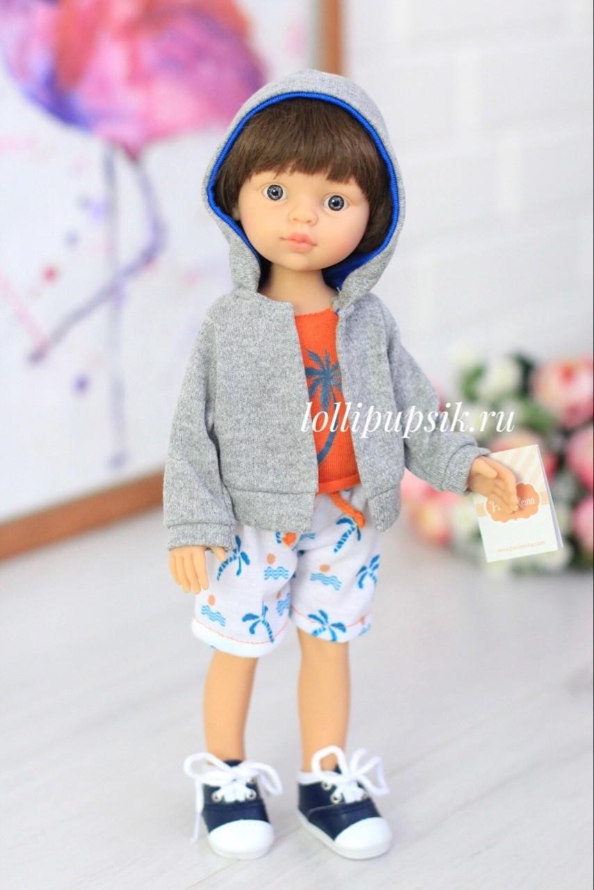 Кукла Паола Рейна мальчик Винсент в одежде (Паола Рейна), 34 см
