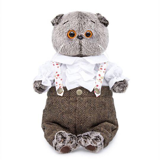 BUDI BASA Мягкая игрушка Кот Басик-романтик - 25 см в положении сидя