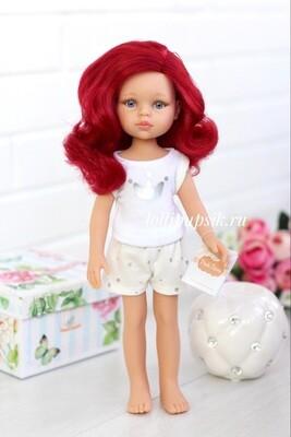 Кукла Даша с красными волосами в пижаме (Паола Рейна), 34 см