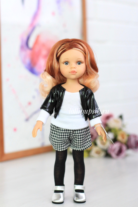 Кукла Рут с серыми глазами в модной одежде (Паола Рейна), 34 см
