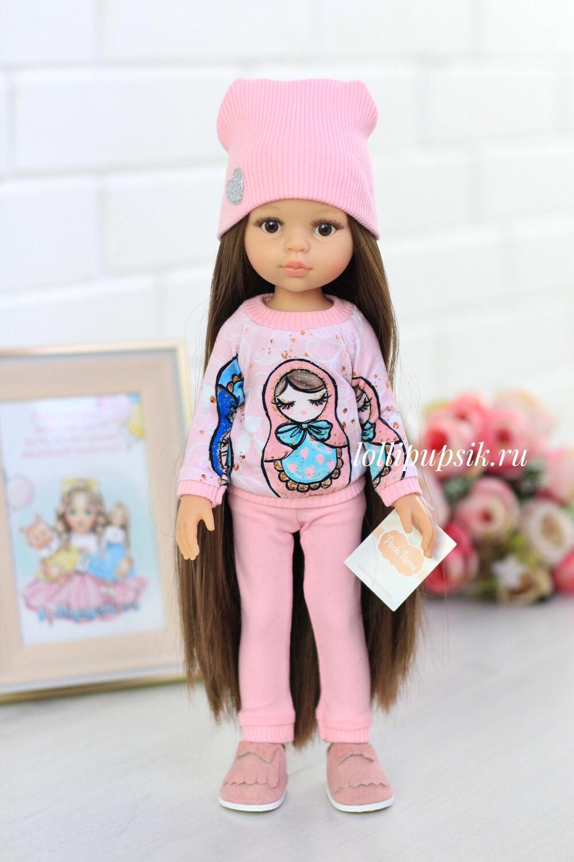 Кукла Кэрол Рапунцель с длинными волосами в модном костюме (Паола Рейна), 34 см