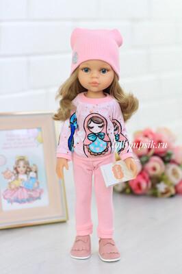 Кукла Карла с волосами по пояс в модном наряде, с серыми глазами (Паола Рейна), 34 см