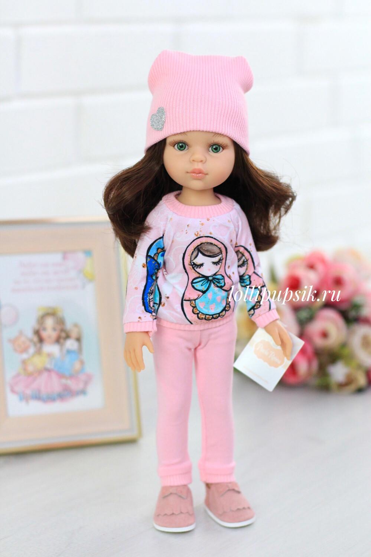 Кукла Кэрол с волосами по пояс в модном наряде, с зелеными глазами (Паола Рейна), 34 см