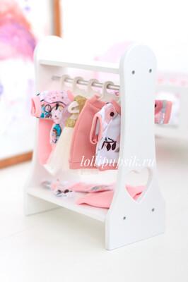 Вешалка-стойка для одежды (в комплекте 5 плечиков)