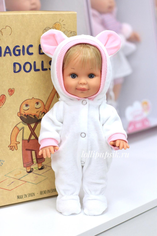 Кукла Бетти с ароматом карамели, 30 см (в велюровом комбинезоне с ушками) Lamagik Magic Baby