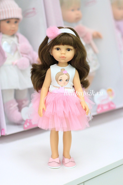 Кукла Кэрол с челкой в модной одежде (Паола Рейна), 34 см