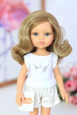 Кукла Карла с волосами по пояс в пижаме, с голубыми глазами (Паола Рейна), 34 см