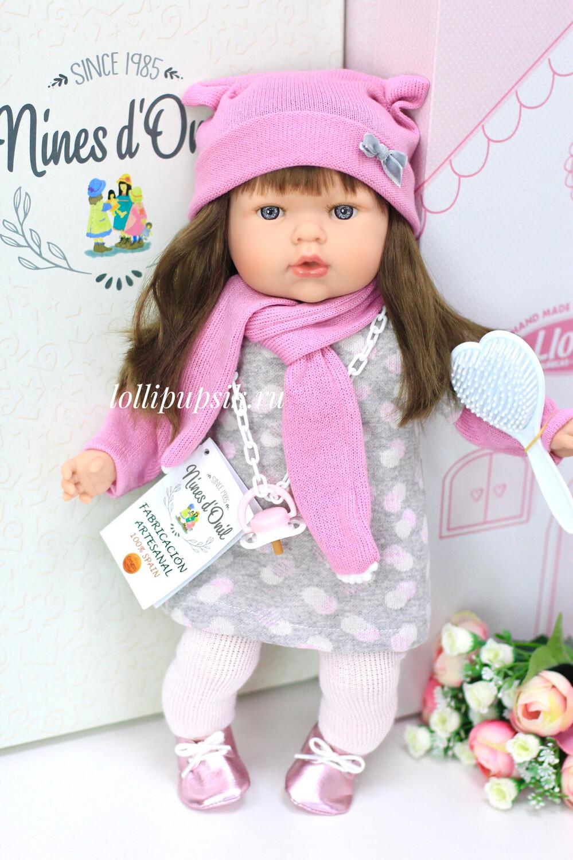 Кукла Тита (Tita) с длинными тёмными волосами, 45 см