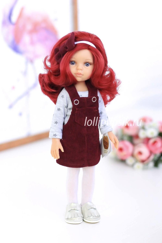 Кукла Даша с красными волосами в одежде (Паола Рейна), 34 см
