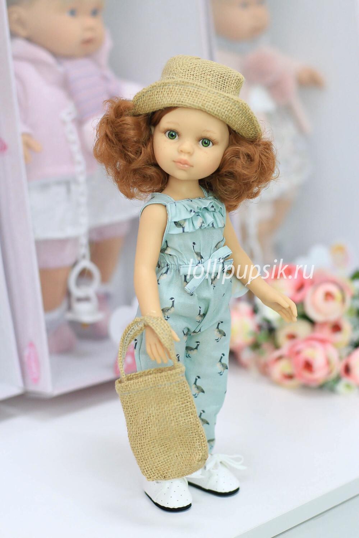 Кукла Кристи Паола Рейна в летнем комбинезоне с сумочкой (в фабричном наряде), 34 см