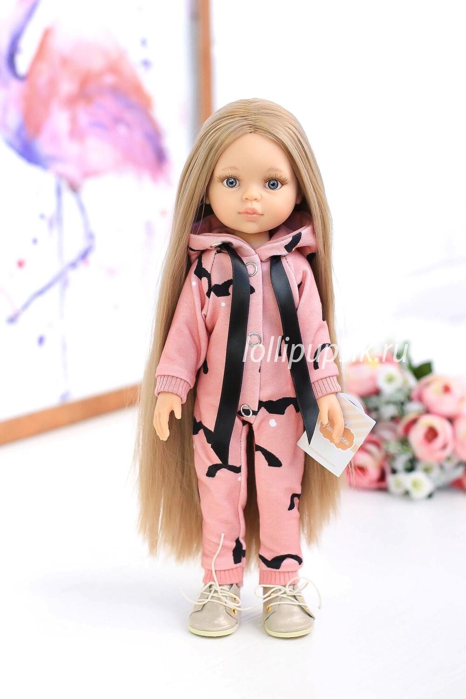 Отправка после 18.10. Кукла Карла Рапунцель с серыми глазами в стильном комбинезоне, Паола Рейна , 34 см