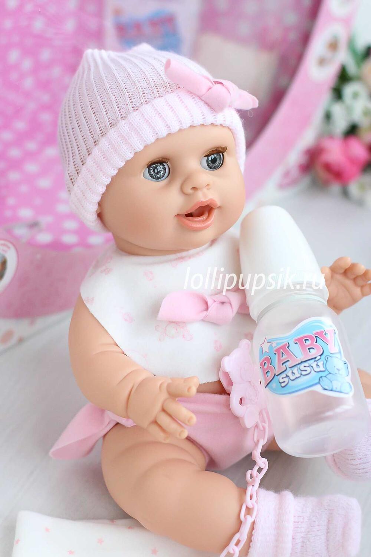 Писающий пупс Berjuan Baby Susu в ярко-розовом, 38 см
