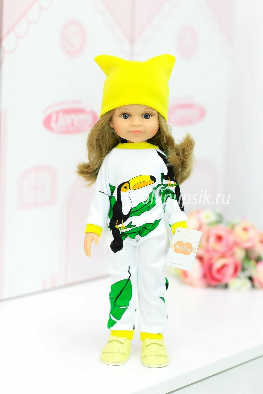 Кукла Клео в модном комбинезоне Паола Рейна , 34 см