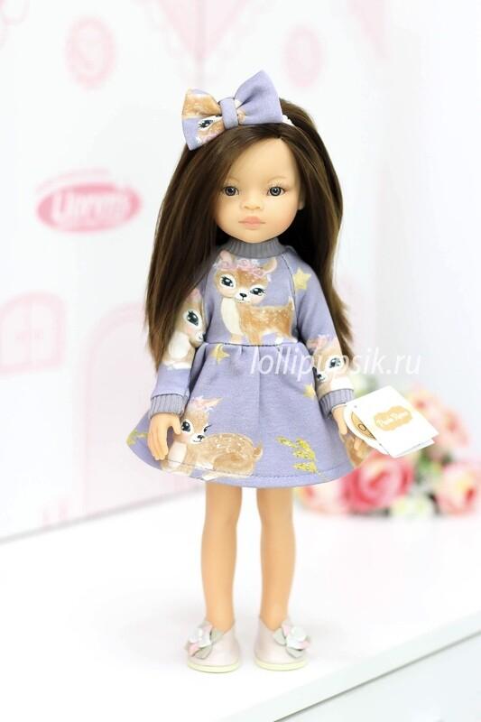 Кукла Мали с серыми глазами в модном платье, Паола Рейна , 34 см