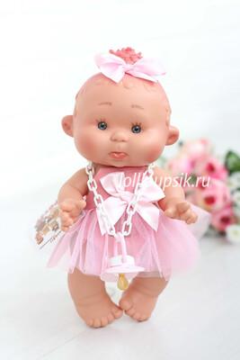 Ванильный пупс Nines d'Onil Обижулька-балеринка с розовым пучком - 26 см